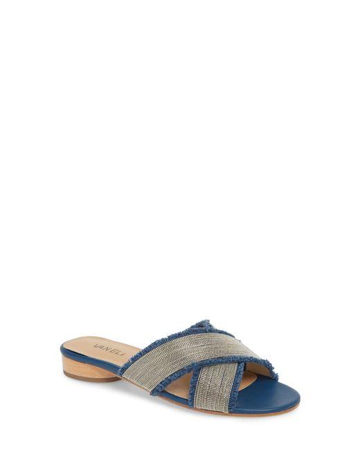 Vaneli - Blue Baret Embellished Cross Strap Slide Sandal - Lyst