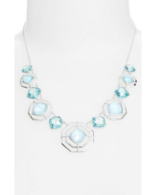 Judith Jack | Blue Paradise Frontal Necklace | Lyst
