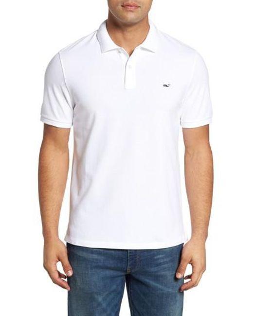 Vineyard Vines | White Slim Fit Pique Polo for Men | Lyst