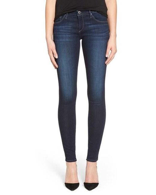 AG Jeans | Blue Jeans Super Skinny Stretch Jeans | Lyst