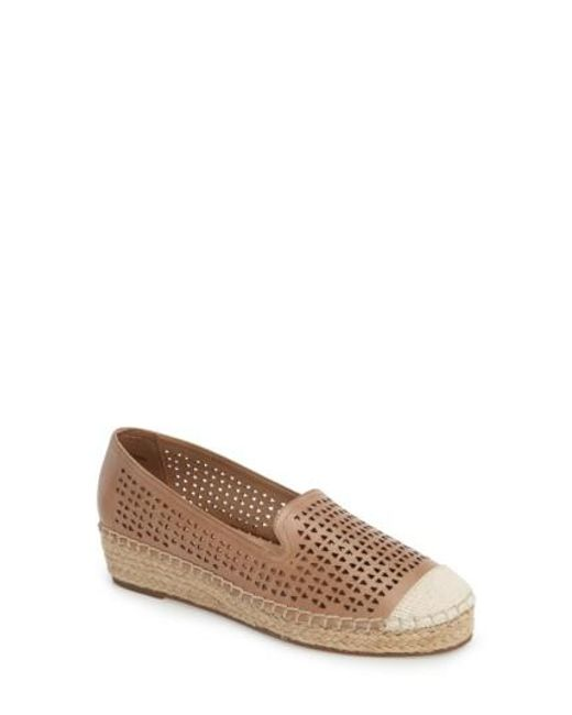 Bella Vita | Brown Channing Cutout Espadrille Loafer | Lyst