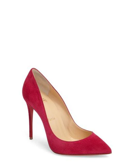 Christian Louboutin - Red Pigalle Follies Pointy Toe Pump - Lyst