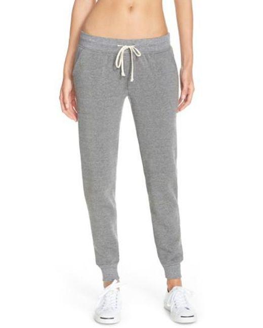 Alternative Apparel - Gray Fleece Jogger Sweatpants - Lyst
