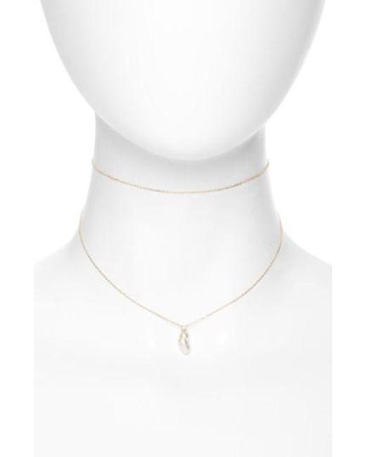 Mizuki   White Mikimoto Sea Of Beauty Diamond & Keshi Pearl Multistrand Choker   Lyst