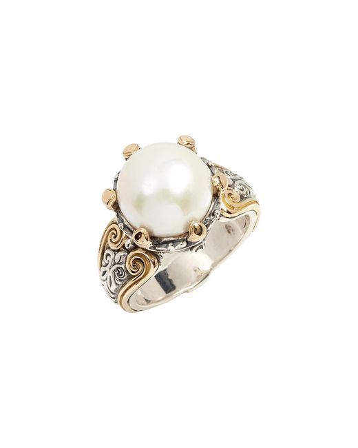 Konstantino - Metallic Hermione Cultured Pearl Statement Ring - Lyst