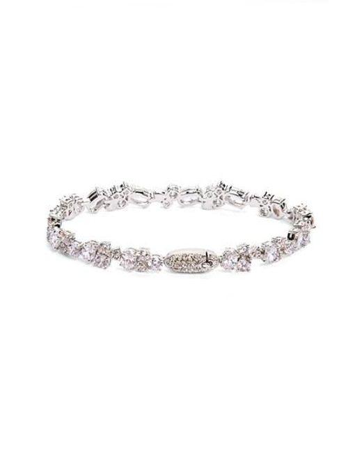 Nadri | Metallic Cubic Zirconia Cluster Line Bracelet (nordstrom Exclusive) | Lyst