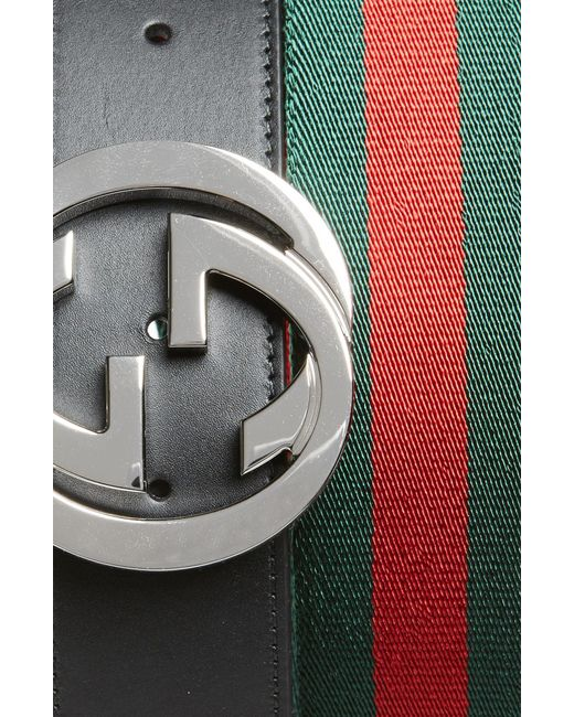 fd3f51c17f6 Lyst - Gucci Web Belt And Gg Buckle in Black for Men - Save 14%