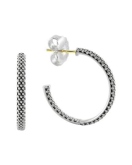 Lagos | Metallic Caviar Hoop Earrings (online Only) | Lyst