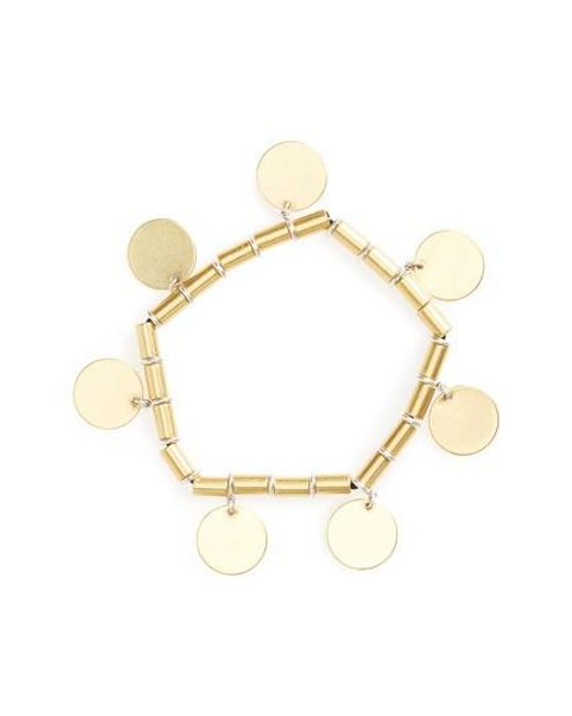 Madewell | Metallic Disc Stretch Bracelet | Lyst