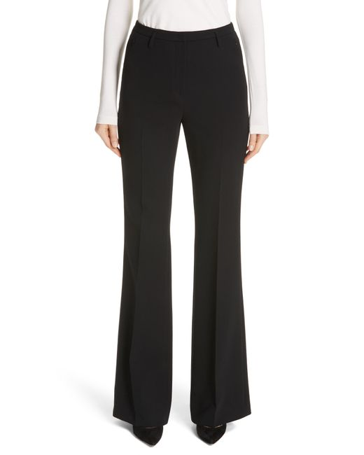 Akris - Black Farrah Stretch Wool Flare Pants - Lyst