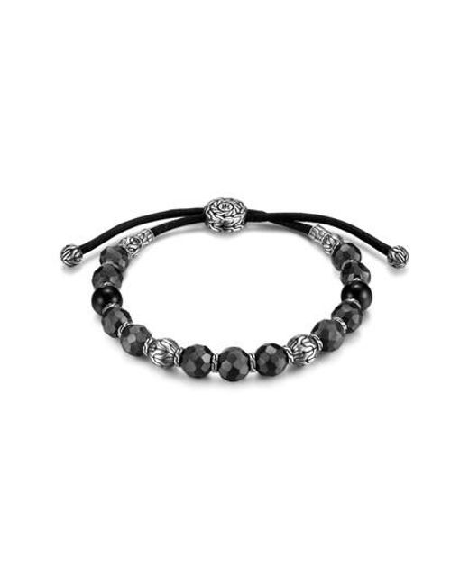 John Hardy - Black Men's Hammered Bead Bracelet for Men - Lyst