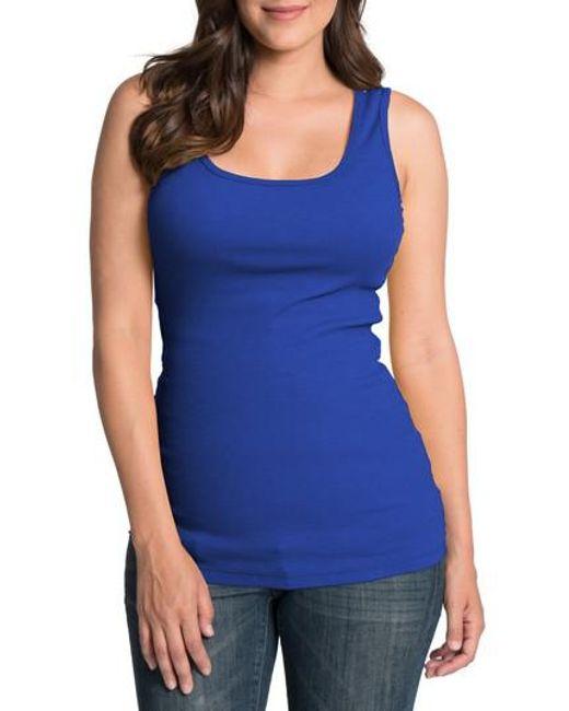 Bun Maternity | Blue Maternity/nursing Tank | Lyst