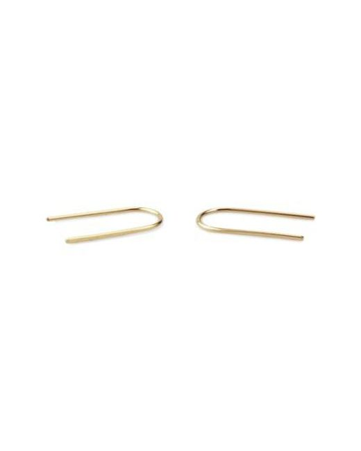 Kris Nations | Metallic Tiny Arc Hoop Earrings | Lyst
