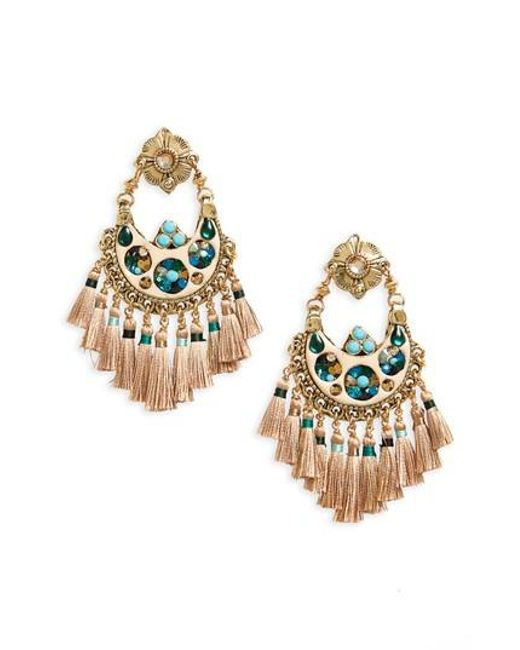 Gas Bijoux | Metallic Small Eventail Statement Earrings | Lyst