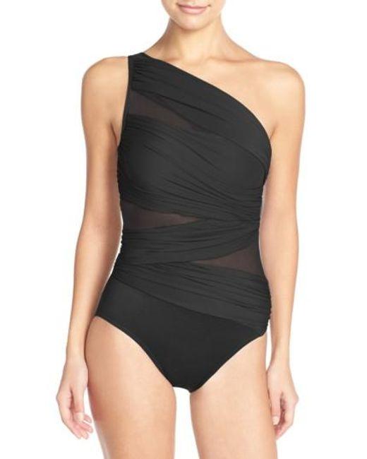 Miraclesuit | Black Miraclesuit Jena One-shoulder One-piece Swimsuit | Lyst