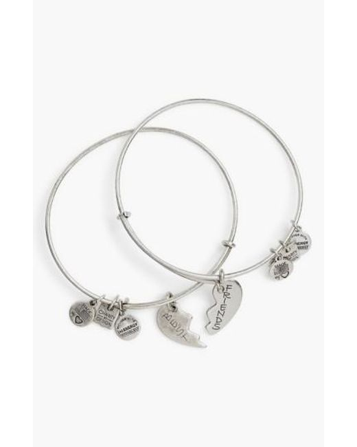ALEX AND ANI | Metallic 'charity By Design - Best Friends' Adjustable Wire Bangles (set Of 2) | Lyst