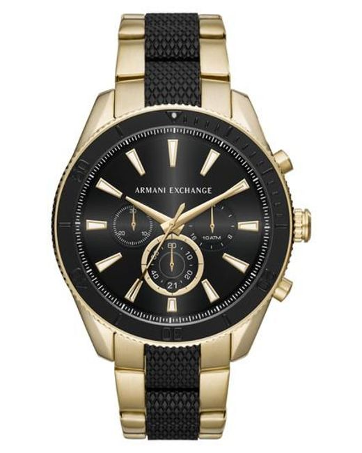 Armani Exchange - Metallic Chronograph Bracelet Watch for Men - Lyst