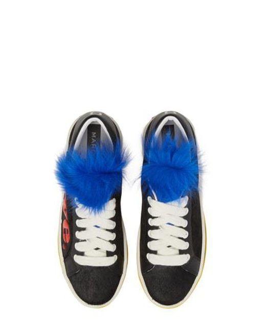 Marc Jacobs Women's Empire Love Genuine Shearling & Calf Hair Trim Sneaker 7FDj1h