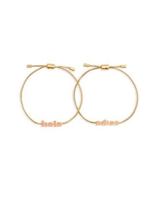 Madewell | Metallic Set Of 2 Friendship Bracelets | Lyst