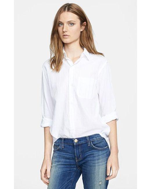 Current/Elliott | White 'the Prep School' Shirt | Lyst