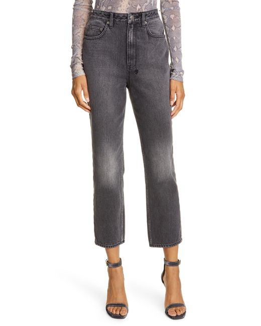 Ksubi Black Chlo Wasted High Waist Crop Straight Leg Jeans