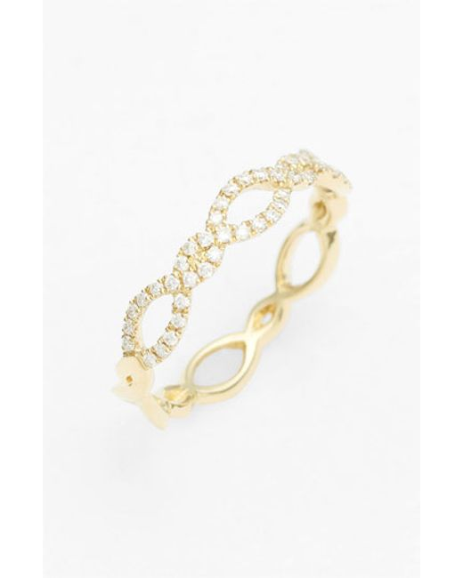 Bony Levy | Yellow Stackable Weave Diamond Ring (nordstrom Exclusive) | Lyst