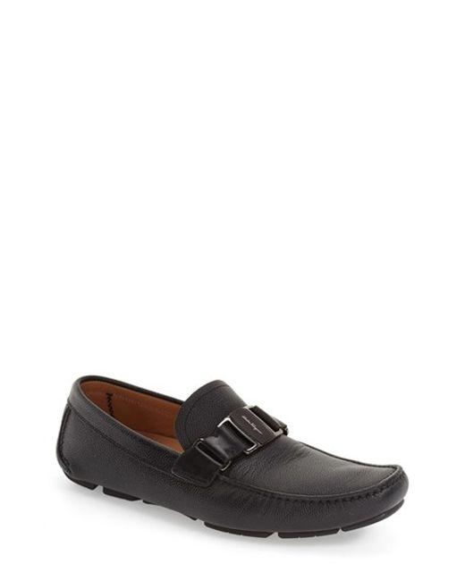 Ferragamo | Black 'sardegna' Driving Shoe for Men | Lyst