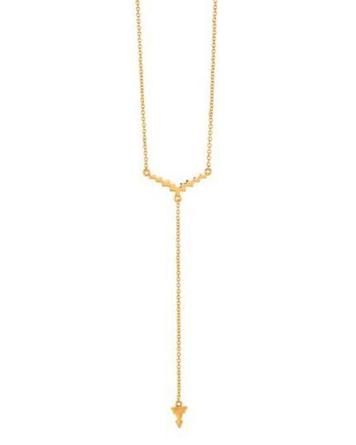 Gorjana | Metallic 'faryn' Y-necklace | Lyst