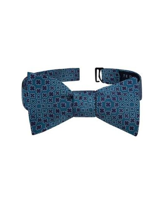 Ted Baker | Blue Ideal Botanical Silk Bow Tie for Men | Lyst