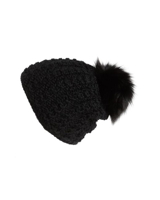 Kyi Kyi - Natural Genuine Fox Pompom Hat - - Lyst