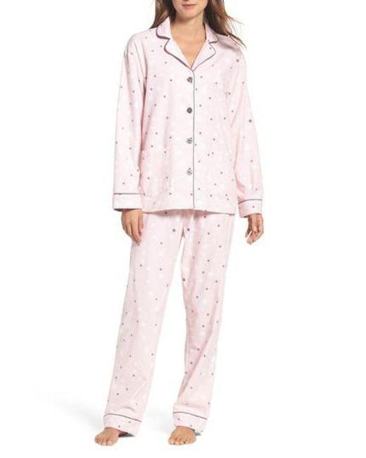 Pj Salvage   Pink Print Flannel Pajamas   Lyst