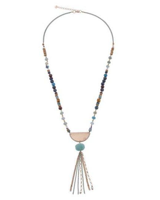 Nakamol - Metallic Amazonite Chain Tassel Necklace - Lyst