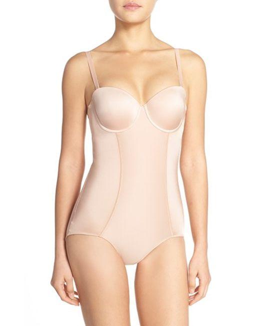 Spanx | Pink Spanx Boostie-yay Slimming Bodysuit With Bra Top | Lyst