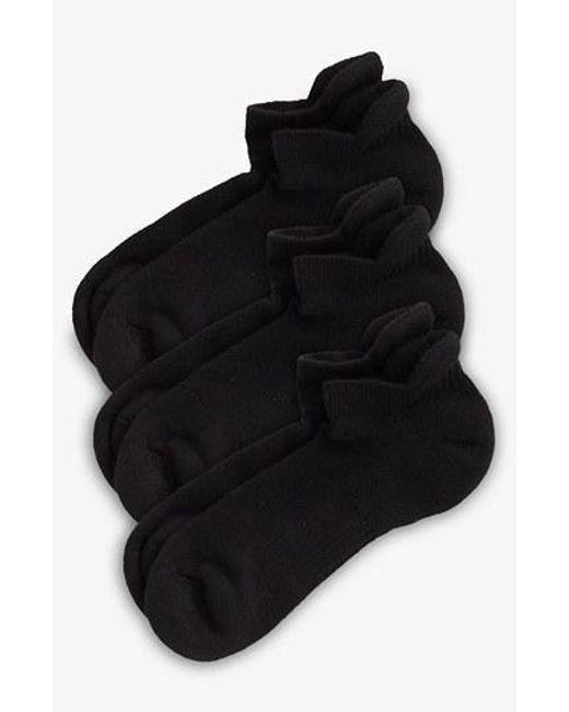 Zella | 3-pack Tab Back Socks, Black | Lyst