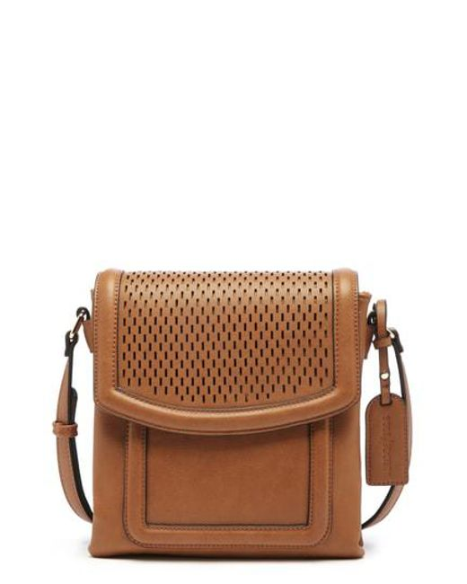 Sole Society - Brown Daisa Faux Leather Crossbody Bag - Lyst