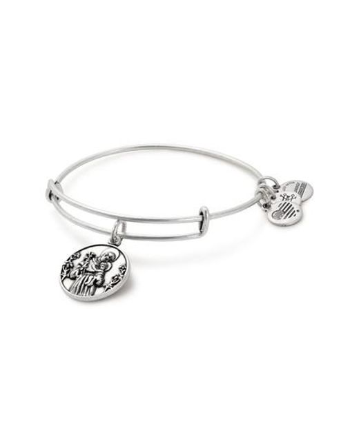 ALEX AND ANI | Metallic St. Anthony Adjustable Wire Bangle | Lyst
