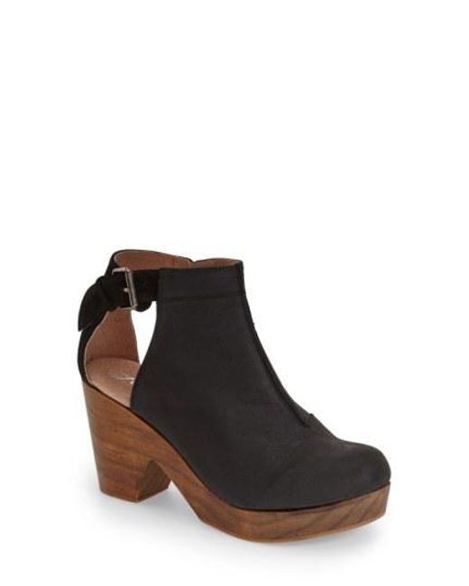 Free People - Black 'amber Orchard' Cutout Bootie - Lyst