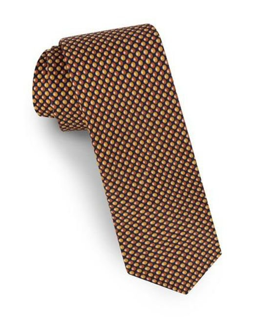 Ted Baker - Orange Dot Silk Tie for Men - Lyst