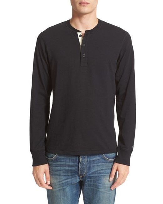 Rag & Bone | Gray Standard Issue Henley for Men | Lyst