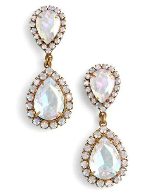 Loren Hope - Metallic Crystal Drop Earrings - Lyst
