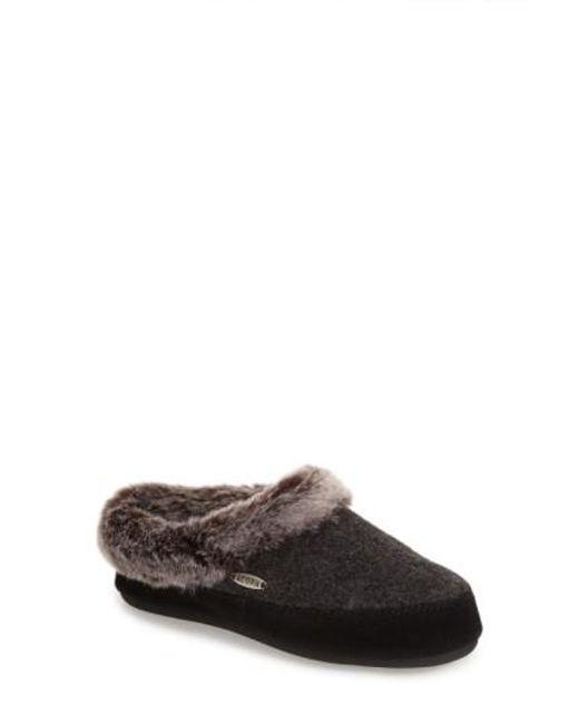 Acorn | Gray Cloud Chilla Scuff Faux-Fur Slippers | Lyst