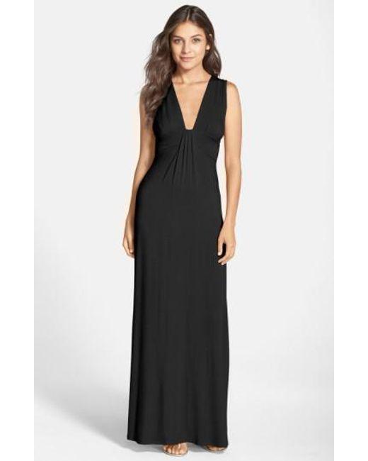 V Neck Jersey Dress
