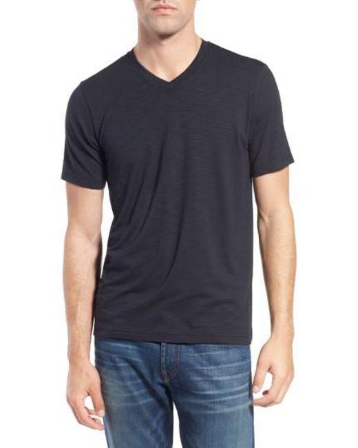 Travis Mathew | Black 'trumbull' Trim Fit Slubbed T-shirt for Men | Lyst