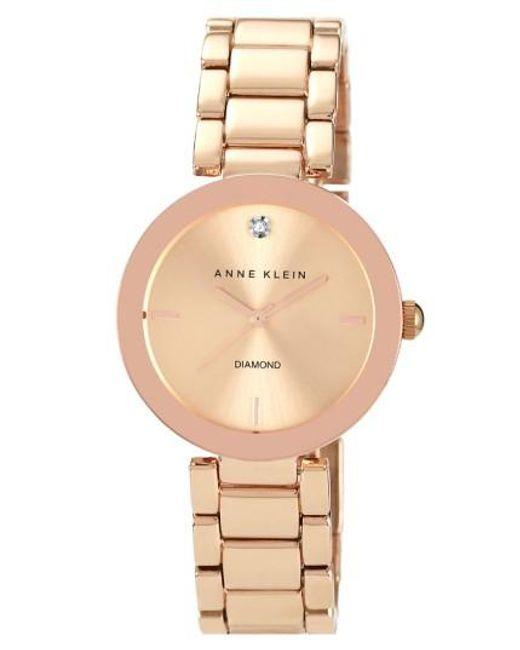 Anne Klein | Metallic Mirror Bezel Bracelet Watch | Lyst