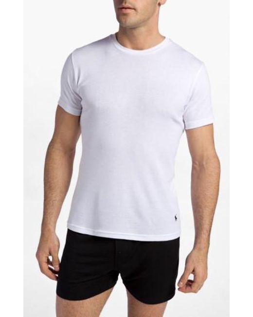 Polo Ralph Lauren - White Cotton Crewneck T-Shirt, (2-Pack) for Men - Lyst