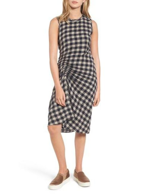 James Perse | Multicolor Spiral Shirred Sheath Dress | Lyst