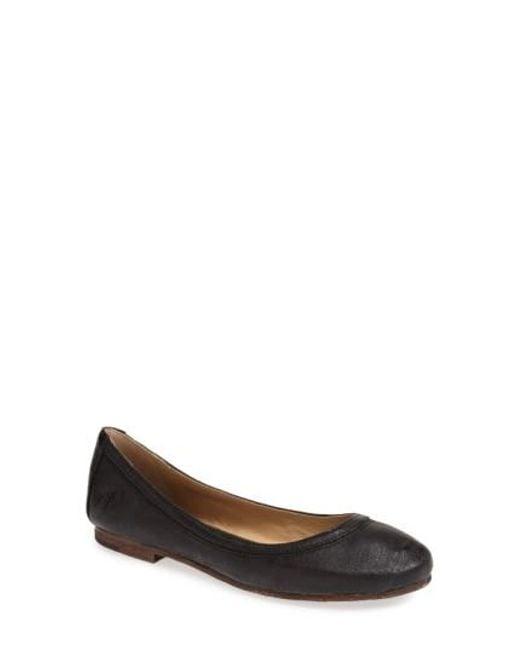Frye | Black 'carson' Ballet Flat | Lyst