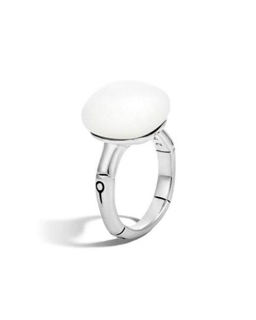 John Hardy   Metallic 'bamboo' Semiprecious Stone Ring   Lyst