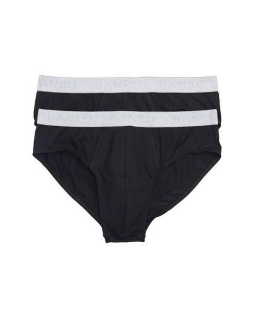 Hanro - Black Cotton Essentials 2-pack Briefs for Men - Lyst