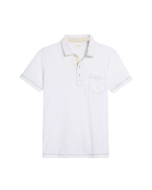 Billy Reid | White Pensacola Slim Fit Polo for Men | Lyst